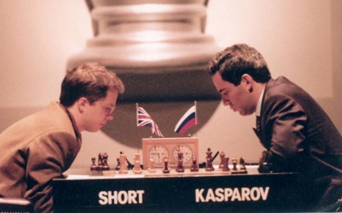Chess Nigel Short v Gary Kasparov in 1993